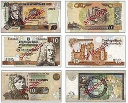 scottish notes schottisches geld banknoten money